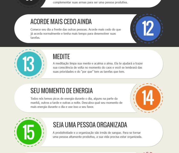 25 passos para melhorar sua Produtividade