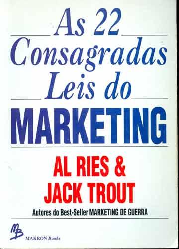 Resultado de imagem para As 22 consagradas leis do Marketing livro png
