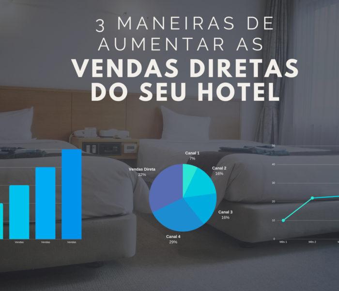 3 Maneiras de aumentar as vendas diretas do seu hotel